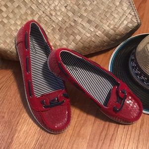 Nautical Sequined Boat Shoes